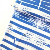 COUPON 40CM Lillestoff -  Stripes blue  jersey €20 p/m GOTS_
