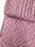 Lillestoff -  Pink cross lines €20 p/m jersey GOTS_