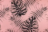 Pink leaves - french terry oekotex €18 p/m_