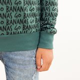 COUPON 48cm See you at six - Go Bananas zilverdengroen €22p/m_