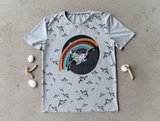 Lillestoff -  Paneel Ocean change 80cm jersey €17,50 p/s GOTS_
