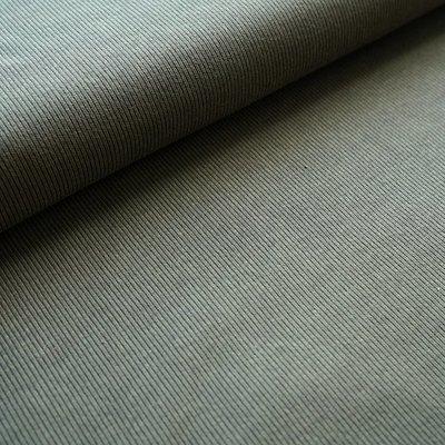 Stoffonkel - Organic Jacquard Stripe Pattern Moss €23,80 p/m GOTS