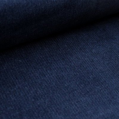 COUPON 35cm Stoffonkel Babyrib cord donkerblauw €25,60/pm - GOTS