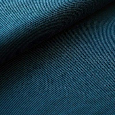 Stoffonkel - Organic Jacquard Stripe Pattern night/petrol €23,80 p/m GOTS