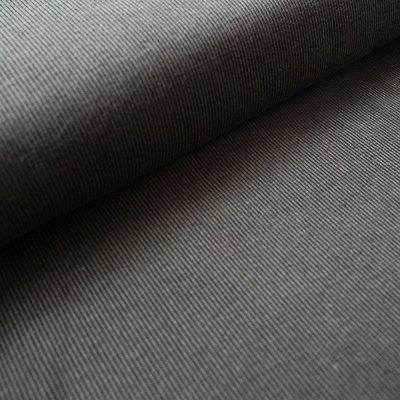 Stoffonkel - Organic Jacquard Stripe Pattern Zwart/grijs €23,80 p/m GOTS