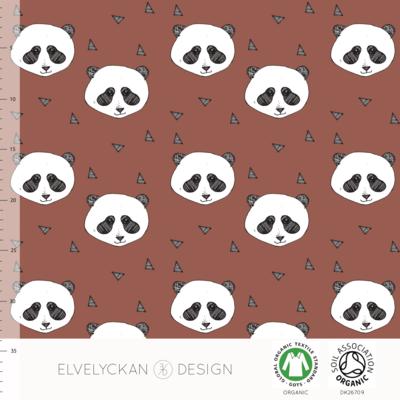 Elvelyckan  - Panda rusty €24 p/m jersey (GOTS)