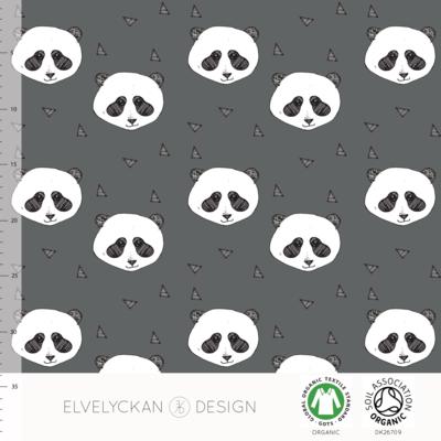 Elvelyckan  - Panda grey €25,50 p/m stretch college (GOTS)