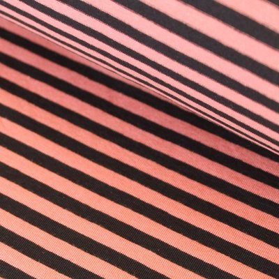 Black/coral stripes €19,80 p/m GOTS