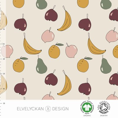 NEW 13 jan Elvelyckan  - Fruity Salad €24 p/m jersey (GOTS)