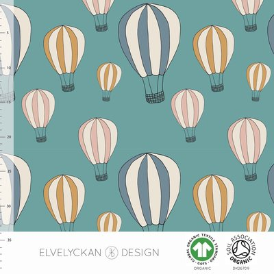 NEW 13 jan Elvelyckan  - Air Balloon aqua €24 p/m jersey (GOTS)