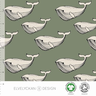 NEW 13 jan Elvelyckan  - Whale green €24 p/m jersey (GOTS)