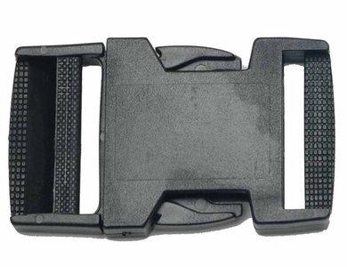 Kunststof klikgesp 38mm 1,25 p/s