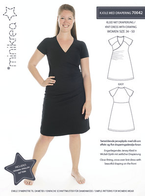 Minikrea Jersey dress met rimpels mt 34-50 70042