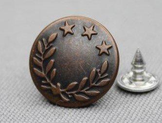Jeansknopen 17mm bronskleur