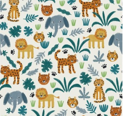 Lillestoff - Jungle Animals summersweat €21,80 p/m GOTS