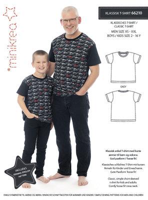 Minikrea Men/Boys classis t-shirt XS-XXL en 2-16y 66210