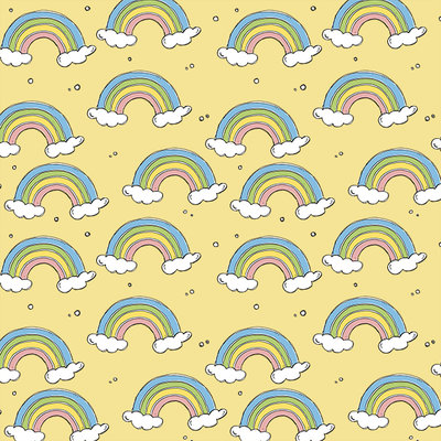 COUPON 50cm Bloome CPH - Rainbow - soft yellow - jersey  €23 p/m
