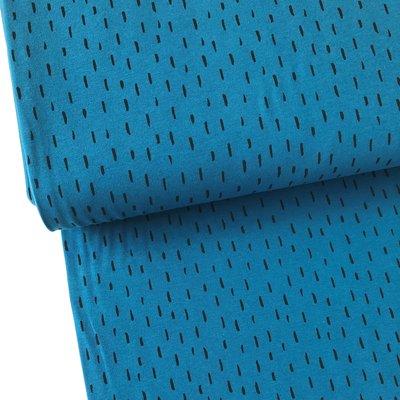Verhees GOTS  - Dots/stripes petrol €11,90 p/m jersey (GOTS)