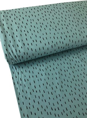 Verhees GOTS  - Dots/stripes licht blauw €11,90 p/m jersey (GOTS)