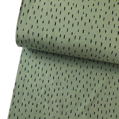 Verhees GOTS  - Dots/stripes Groen €11,90 p/m jersey (GOTS)