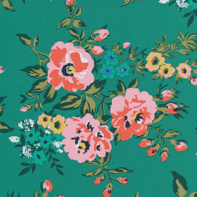Cloud 9 - Wild Flower - Rosie green €23,90 p/m (cotton sateen)