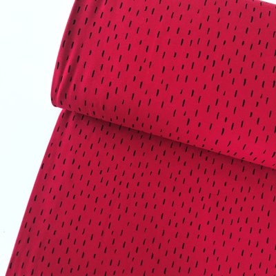 Verhees GOTS  - Dots/stripes red €11,90 p/m jersey (GOTS)