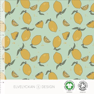 Elvelyckan  - Lemon neo mint €24 p/m jersey (GOTS)