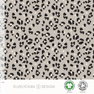 COUPON 70cm Elvelyckan  - Lynx Dots €25,50 p/m stretch college (GOTS)
