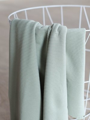 meetMilk - SELF-STRIPE OTTOMAN KNIT - Soft mint met LENZING™ ECOVERO™ vezels €25,90 p/m