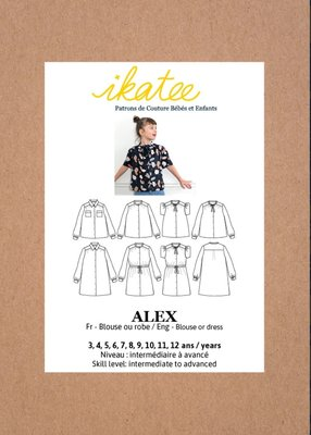 Ikatee - Alex blouse or dress KIDS- mt 3y-12y
