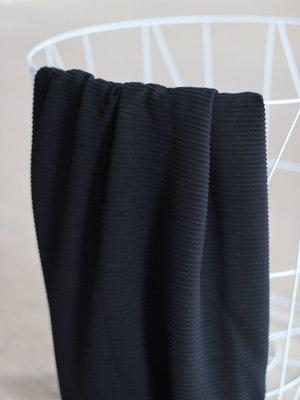 meetMilk - SELF-STRIPE OTTOMAN KNIT - Zwart met LENZING™ ECOVERO™ vezels €25,90 p/m