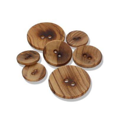 Olive Wood - platte houten knoop €0,65 p/s