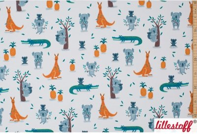 Lillestoff - Koala and crocodiles summersweat €21,80 p/m GOTS