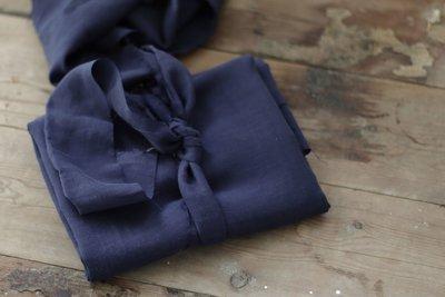COUPON 60cm meetMilk - Linnen Blueberry met TENCEL™ Lyocell vezels €25,90 p/m