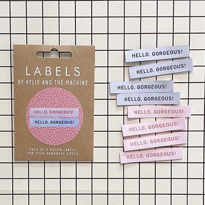 KYLIE & THE MACHINE - HELLO GORGEOUS 8 labels €6,50 per set