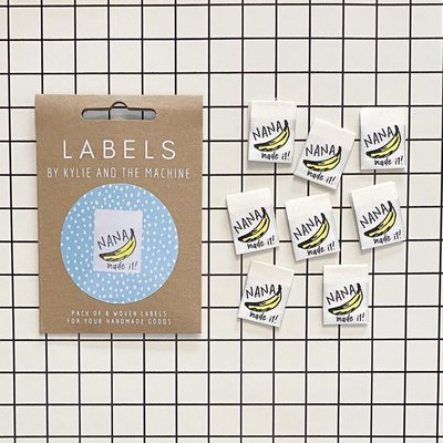 KYLIE & THE MACHINE - NANA MADE IT 8 labels €6,50 per set