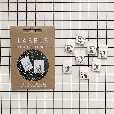 KYLIE & THE MACHINE - SIZE: ME SIZE: YOU 8 labels €6,50 per set