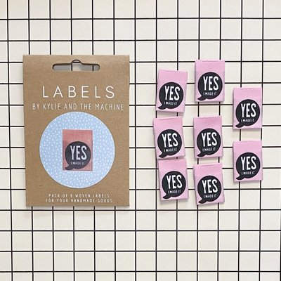 KYLIE & THE MACHINE - YES I MADE IT 8 labels €6,50 per set