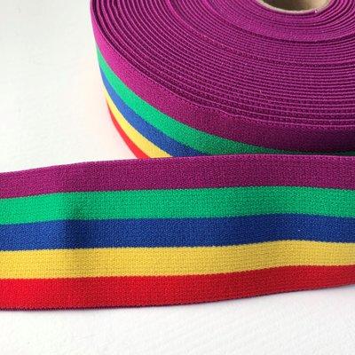 Rainbow elastiek 40mm