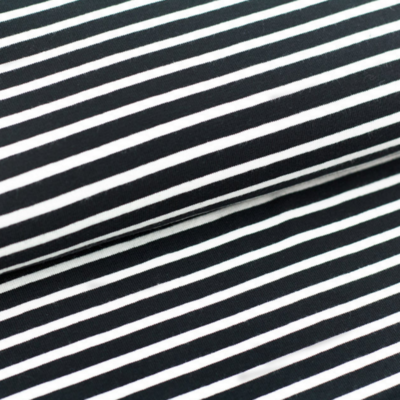 COUPON 75cm Black/White stripes €19,80 p/m GOTS