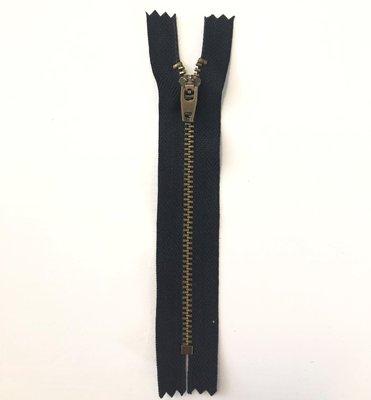 Jeans rits 13 cm zwart- Snaply
