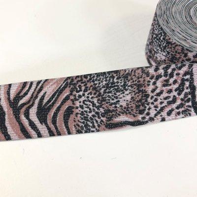 Animal glitter elastiek 35mm