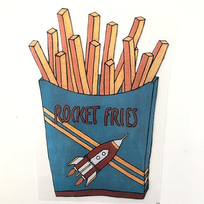 Rocket Fries strijkapplicatie
