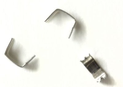 Rits stopper 6,5mm - zilver - Snaply
