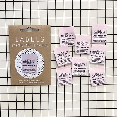 KYLIE & THE MACHINE - LOOK AFTER ME 8 labels €6,50 per set