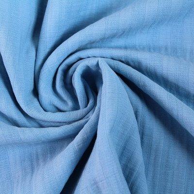 Stoffonkel - Double Gauze - blauw - €23,90 p/m GOTS
