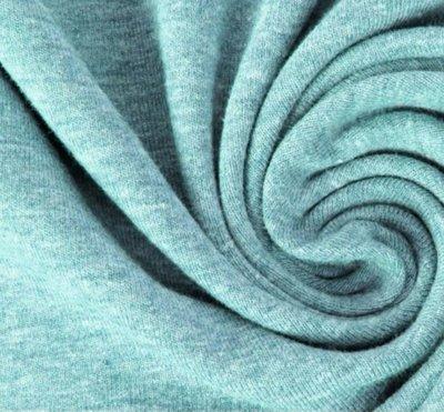 Lillestoff - solid mint gemêleerd (jersey) €15 p/m GOTS