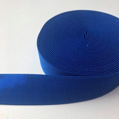 Blauw schuin geweven elastiek 40mm
