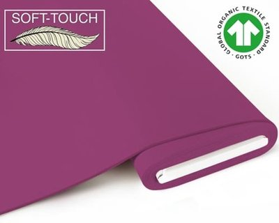 Fabrilogy - Berry soft touch €11,70 p/m GOTS