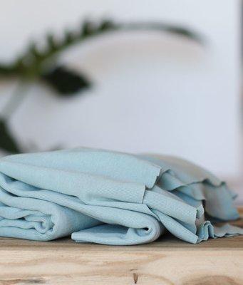 meetMilk - Fine rib Jersey - BLUE MIST met TENCEL™ Lyocell vezels+katoen €22,90 p/m